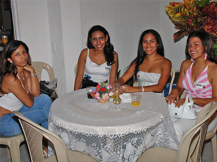 A group of alluring Colombian singles during the socials in Colombia