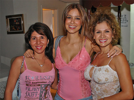 Three attractive Colombian women